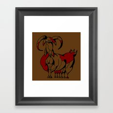 Fat Goat Framed Art Print