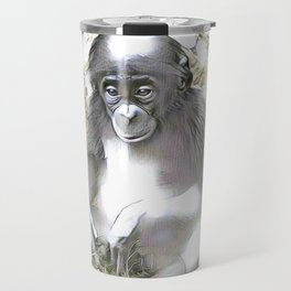 fascinating altered animals - Bonobo Travel Mug