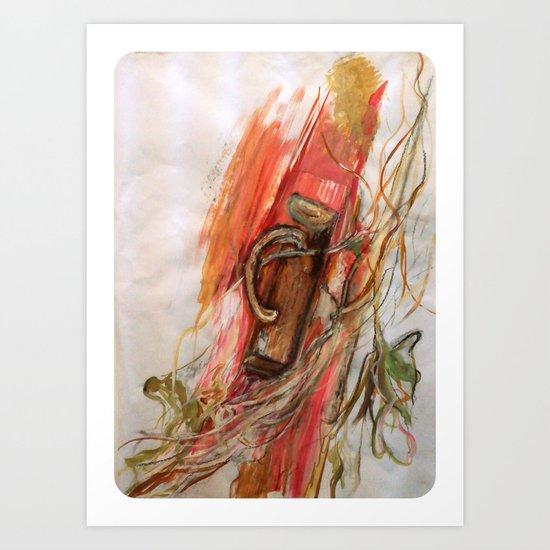 Large Scale Mixed Media Art Print