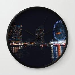 Yokohama Night Life Wall Clock