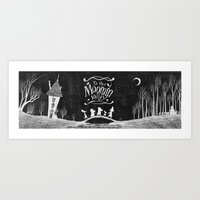 moomin Art Prints featuring To the Moominvalley by CottonValent