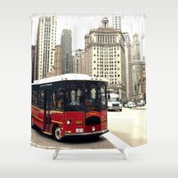 chicago Shower Curtains featuring Chicago by KellyLynne on the Coast
