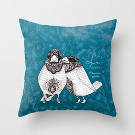 Love Forever - Chestnut munia Throw Pillow