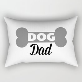 Dog Dad Quote Rectangular Pillow