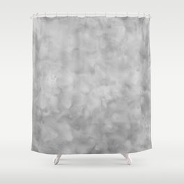 Soft Gray Clouds Texture Shower Curtain