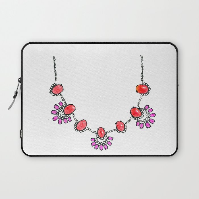 Bauble Bar Necklace Laptop Sleeve by sherbetpaper