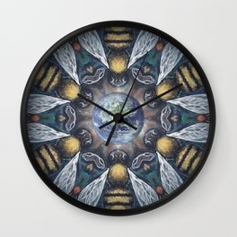 The Keepers of the Garden // Bee Beehive Insect Earth Nature Organic Sustainable Animal Environment Wall Clock
