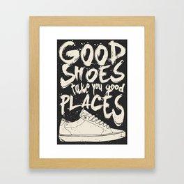 Good Shoes Good Places Framed Art Print