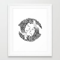 salt water Framed Art Prints featuring Salt Water by Alice Charlie Liu