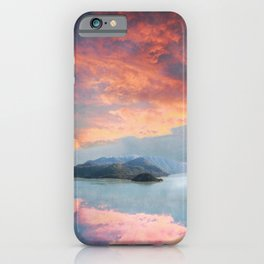Sunset Over Lake Como Italy iPhone Case