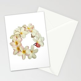Plumeria Tropical Flower Garland Stationery Cards