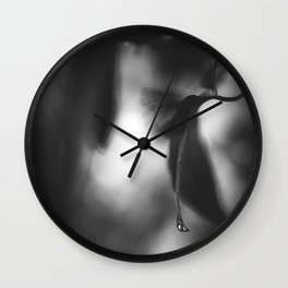 Slip n slide - BW Wall Clock