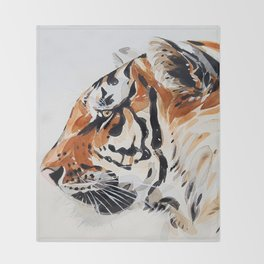 TIGER IN WATERCOLOR Throw Blanket