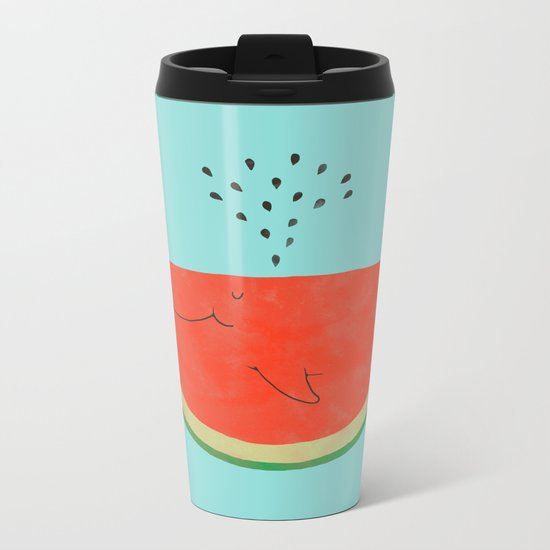 Don't let the seed stop you from enjoying the watermelon Metal Travel Mug