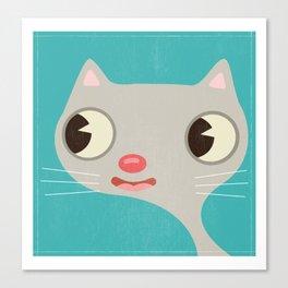 Grey Kitty Canvas Print