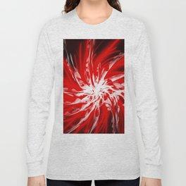 Dark Red Organic Spiral Long Sleeve T-shirt