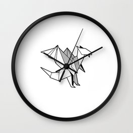 I´d Rather Be Folding Paper Motive for a Hobbyists Wall Clock