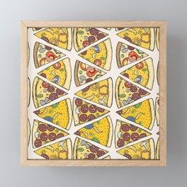Pizza Pattern | Fast Food Cheese Italian Framed Mini Art Print