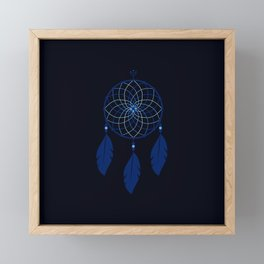 The Blue Dreamcatcher Framed Mini Art Print