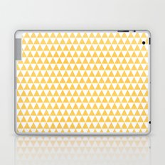 triangles - yellow and white Laptop & iPad Skin