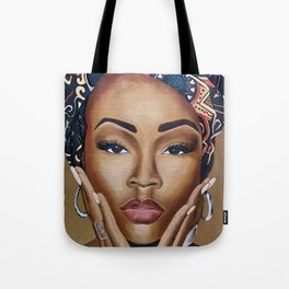 Brown Skin Tote Bag