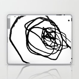 Minimalist abstract flower scribble artwork drawn by a child Laptop & iPad Skin