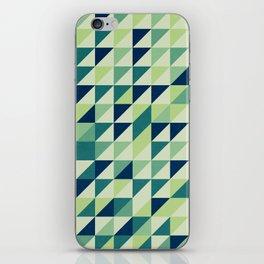 Blue And Green Geometric Grid iPhone Skin