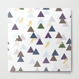 Tribal Triangle Pattern Metal Print
