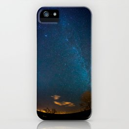Winter Night Sky Milky Way iPhone Case