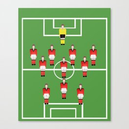 Soccer football team in red Canvas Print
