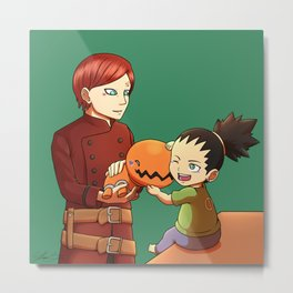 Gaara Gift for Shikadai Metal Print