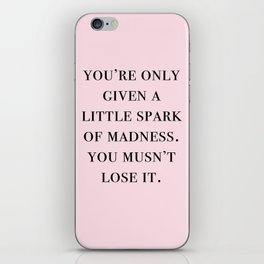 spark of madness iPhone Skin