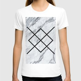 Marble Geometric Pattern T-shirt