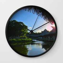 Balcony/Waterfront View Wall Clock