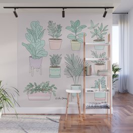 House Plants Guide Wall Mural