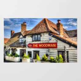 The woodman Pub Ongar Essex England Rug