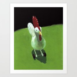 Toy Chicken Art Print