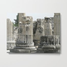 Fluted Ionic Columns - Temple of Apollo, Turkey Metal Print