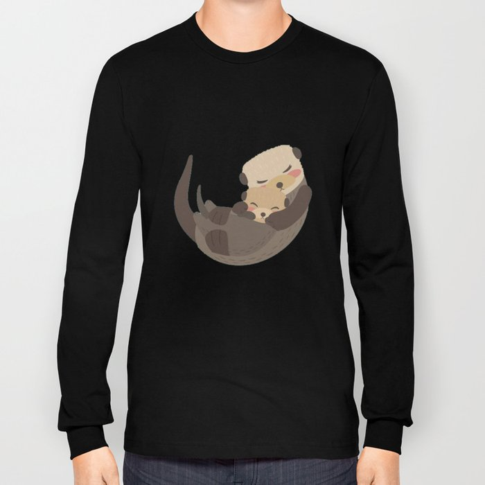 Otter Mother and Child Long Sleeve T-shirt