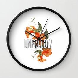 UNFOLLOW Wall Clock