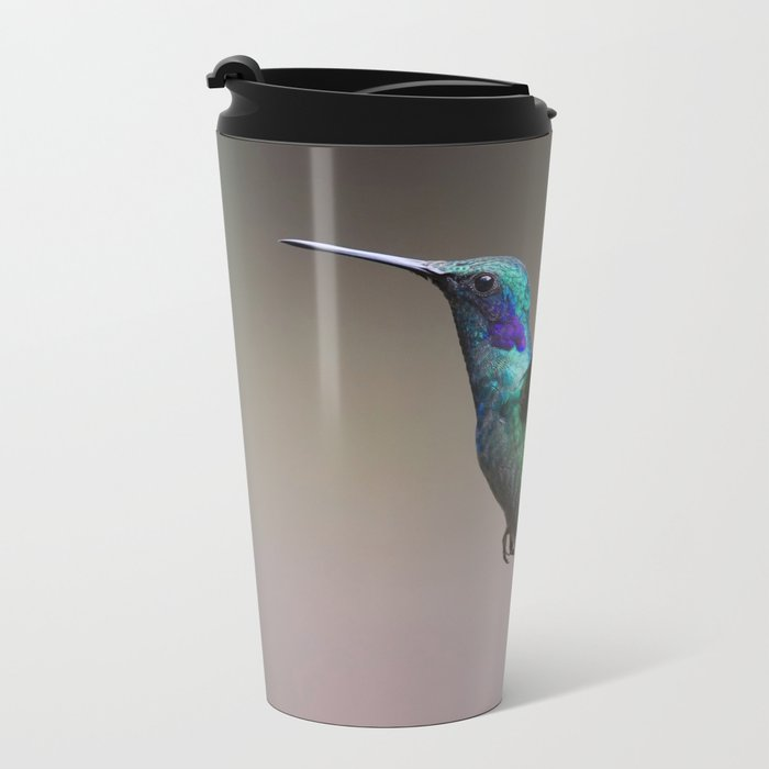 hummingbird Metal Travel Mug