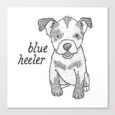 Dog Breeds: Blue Heeler/Australian Cattle Dog Canvas Print