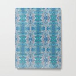 Pattern in Blue, Green & Pink Metal Print