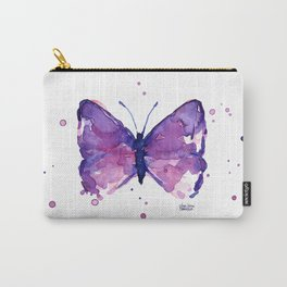 Butterfly Purple Watercolor Animal Carry-All Pouch