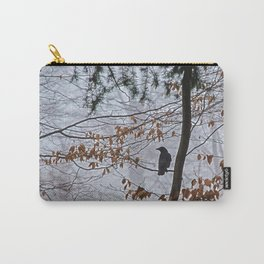 Crow in the mist Carry-All Pouch