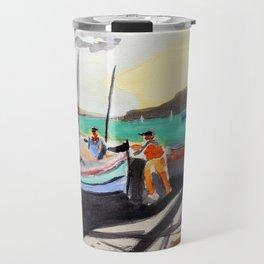 Fishing port Travel Mug