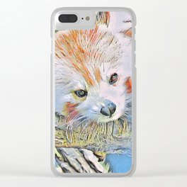 Watercolors - Red Panda 2 Clear iPhone Case