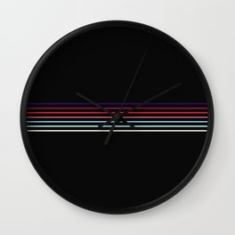 Pop Colored Fine Lines Wall Clock