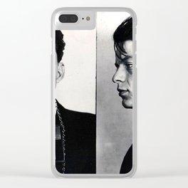 Frank Sinatra Mug Shot Horizontal Clear iPhone Case