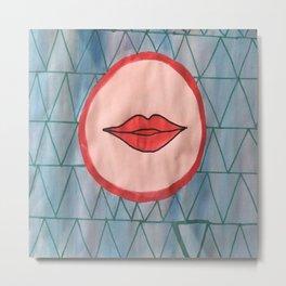 painted lips Metal Print